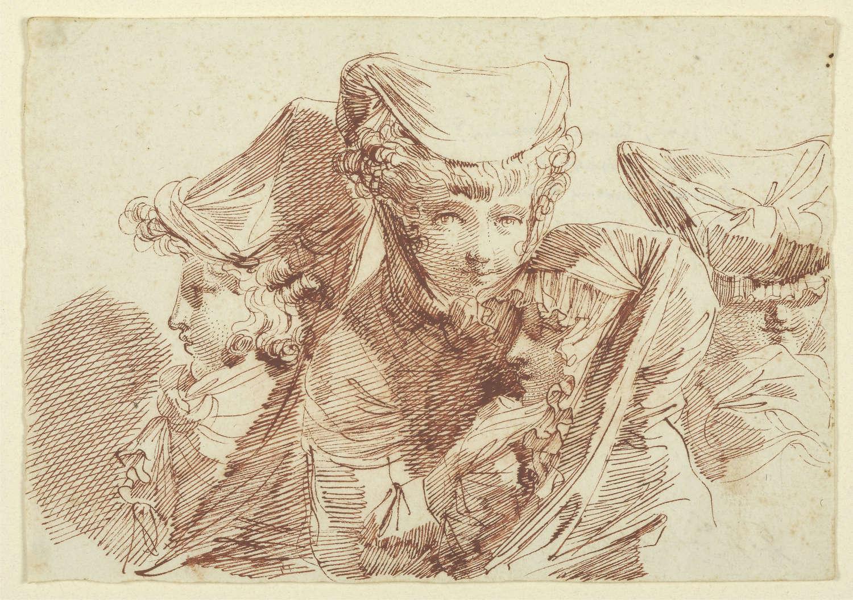 Gandolfi red  ink drawing
